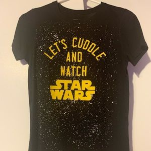 All black Star Wars tee